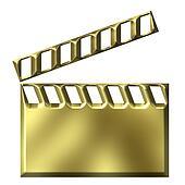 3D Golden Film Clap Board