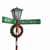 Christmas Street Sign