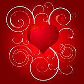 love heart swirl white