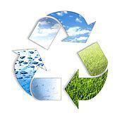 Three element recyclIng symbol