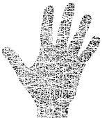 Grunge hand