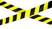 Barrier tape.