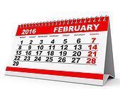 Calendar February 2016.