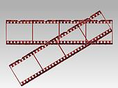Transparent Film Strips in Vector format