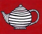 Striped teapot