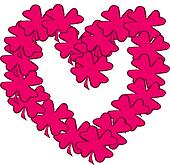 Shamrock heart pink