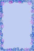 Blue Flower border