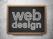 Web design concept: Web Design on chalkboard background