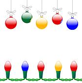 Merry Christmas Ornaments & Light String