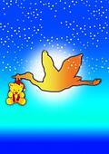 teddy with stork 1
