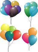balloon set transparent