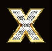 Letter X bling bling