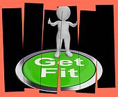 Get Fit Pressed Shows Exercise And Working Out