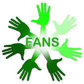 Fans Hands Indicates Social Media And Arm