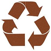 Wooden recycling symbol