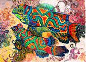 Mandarin Fish Art