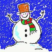 childs snowman