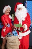 Santa Claus and woman