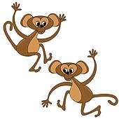 Two monkey graphic