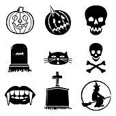 Halloween icons collectio