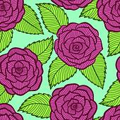 beautiful seamless pattern in roses and leaves lace.