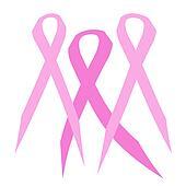 3 pink ribbons
