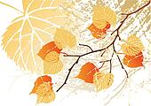 September leaves background