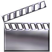 3D Silver Clap Board