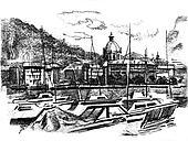 Como lake port view