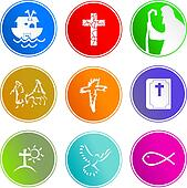 Christian sign icons
