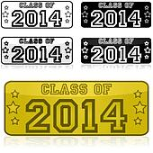 Class of 2014 stickers