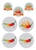 Chili Spice meter sticker seal set