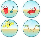 Round beach clip-art