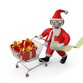 Santa Buying Presents