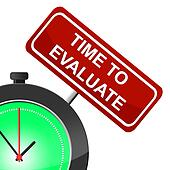 Time To Evaluate Indicates Interpret Evaluating And Calculate