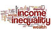 Income inequality word cloud