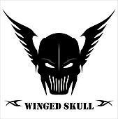 Winged Black Skull