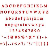 3D Ruby Font