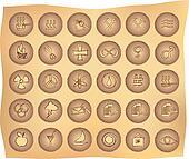 primitive buttons