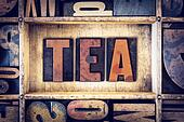 Tea Concept Letterpress Type