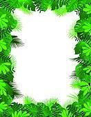 Tropical lea background