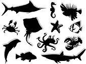Sea-life silhouette