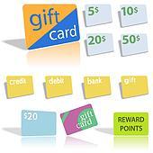 Gift Credit Debit Bank Cards