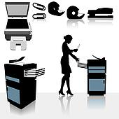 Office Copiers Business Woman