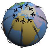 Airline Travel Destination: Europe