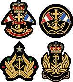 nautical royal emblem badge shield