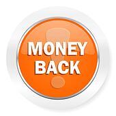money back orange computer icon