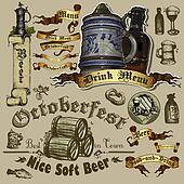 set of beer element