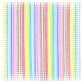 Bright color vertical dotted lines pattern