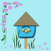 baby birds birdhouse